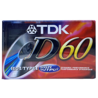 audiokazeta mckazeta TDK D60 1997-01 US