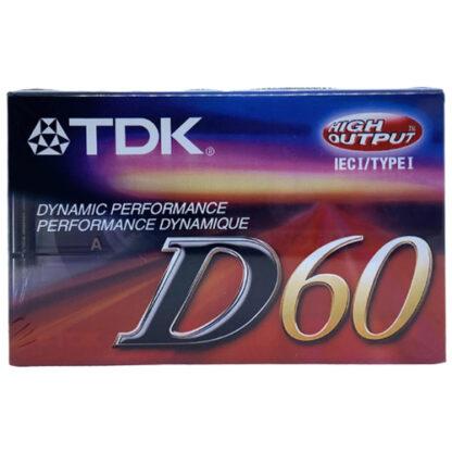 audiokazeta TDK D60 2001-03 US