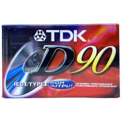 audiokazeta TDK D 90 1997-01 US