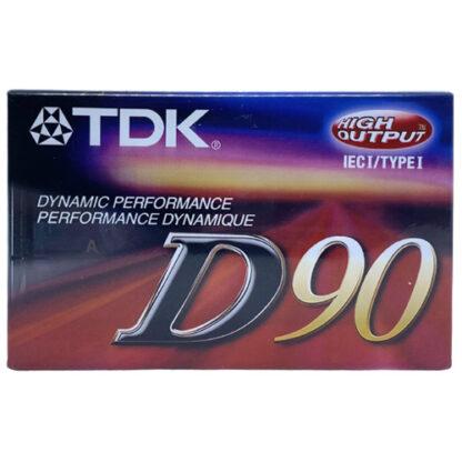 audiokazeta TDK D90 2001-03 US