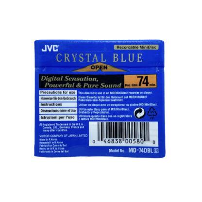 minidisc jvc crystal blue 74