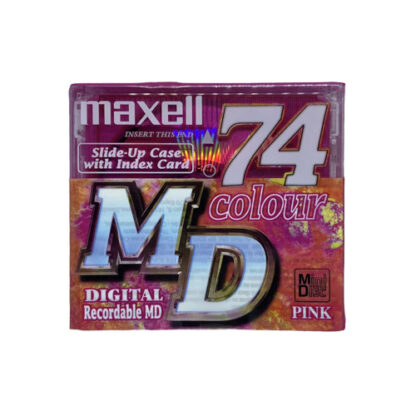 minidisc maxell 74 color pink MD74PKE