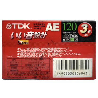 tdk ae120 3pack 1997 jpn